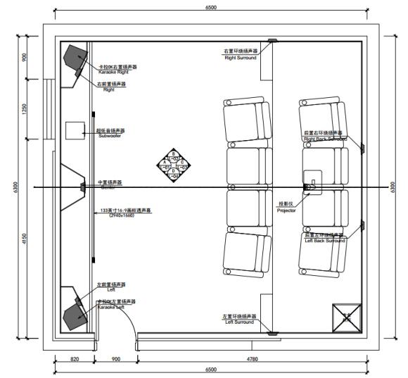 注;影音室平面设计图